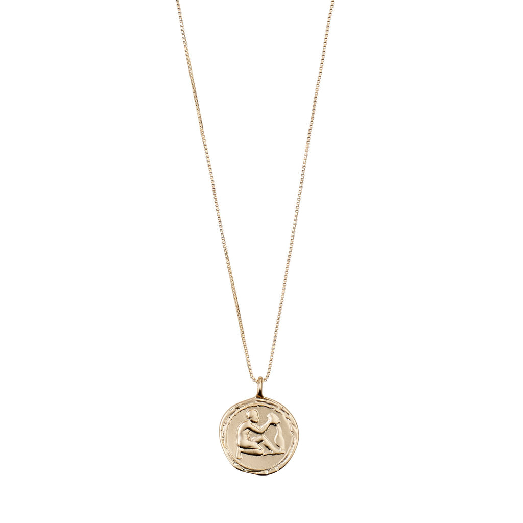 Aquarius Necklace Gold