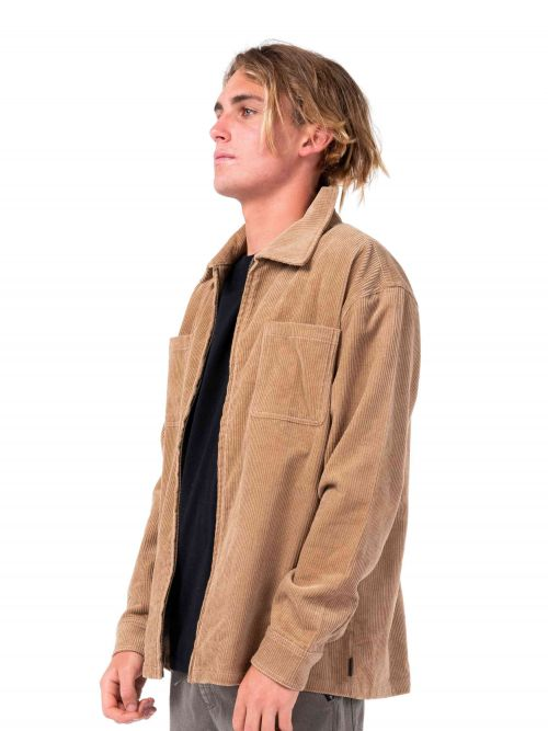 Coup Cord LS Overshirt Latte