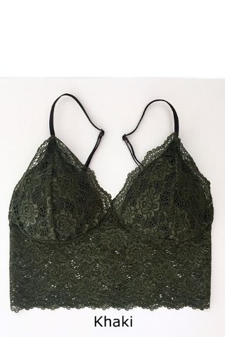 Soft Cup Mini Cami Khaki