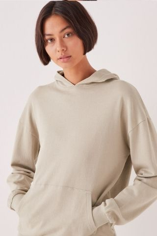 Lahini Hooded Sweat Washed Khaki