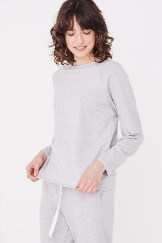 Kin Fleece Top Grey/Marl