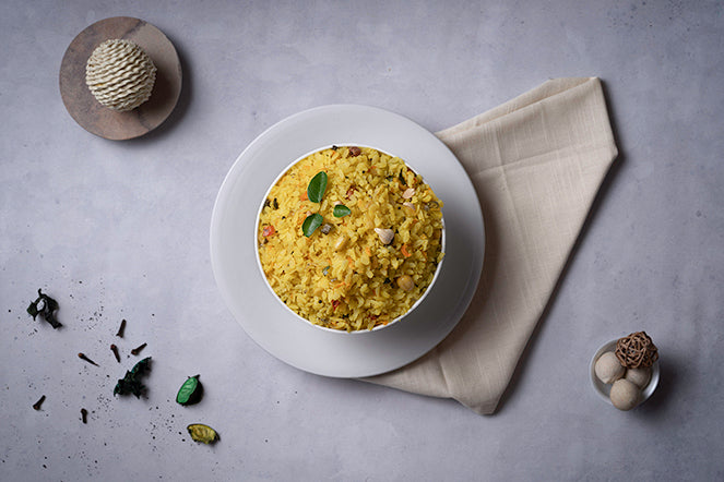 Poha - Indian meal plan - The Cumin Club