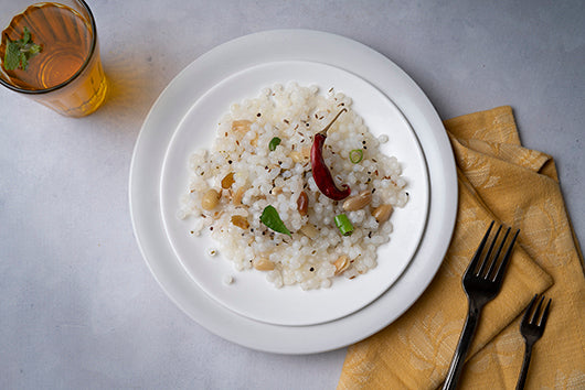 Sabudana Khichdi - Indian meal plan - The Cumin Club