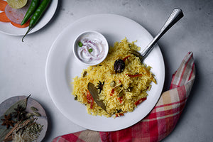 Veg Biryani - Indian meal plan - The Cumin Club