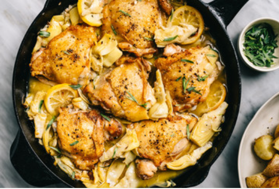 Lemon Chicken with Thyme & Olives