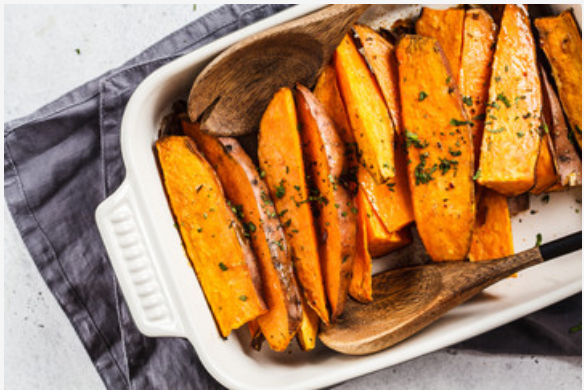 Cranberry Pear Roasted Sweet Potato