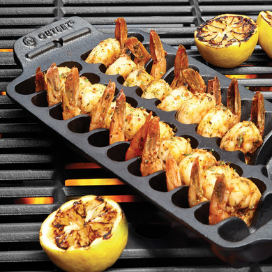 CAST IRON GRILL SHRIMP PAN