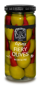VODKA TIPSY FIREY OLIVES