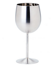 Load image into Gallery viewer, STAINLESS STEEL WINE GLASS