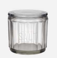 Load image into Gallery viewer, HEMMINGWAY GLASS SALT JAR W/LID