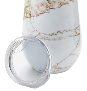 DOUBLE WALL MARBLE WINE TUMBLER S/2