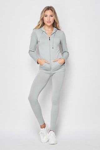 Ladies Zip Up Hoodie and Legging Set