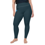 Ladies All Day Comfort Pacific Supply Graphite Plus Size Leggings