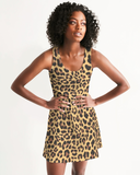 Animal Print Natural Ladies Racerback Dress