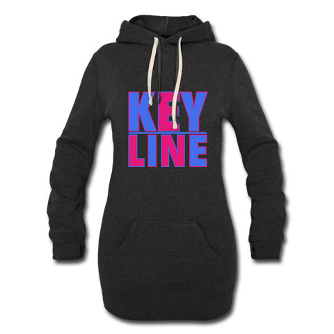 Ladies Hoodie Dress - heather black