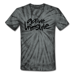 Active Lifestyle Tie Dye T-Shirt - spider black