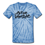 Active Lifestyle Tie Dye T-Shirt - spider baby blue