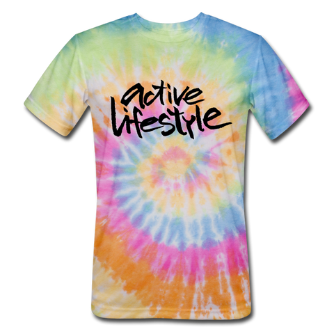 Active Lifestyle Tie Dye T-Shirt - rainbow