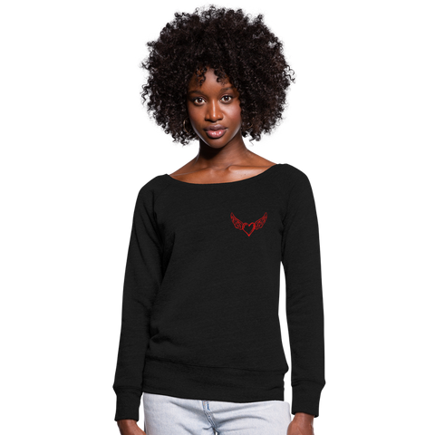 "Women's Wideneck ""Love"" Sweatshirt - black"