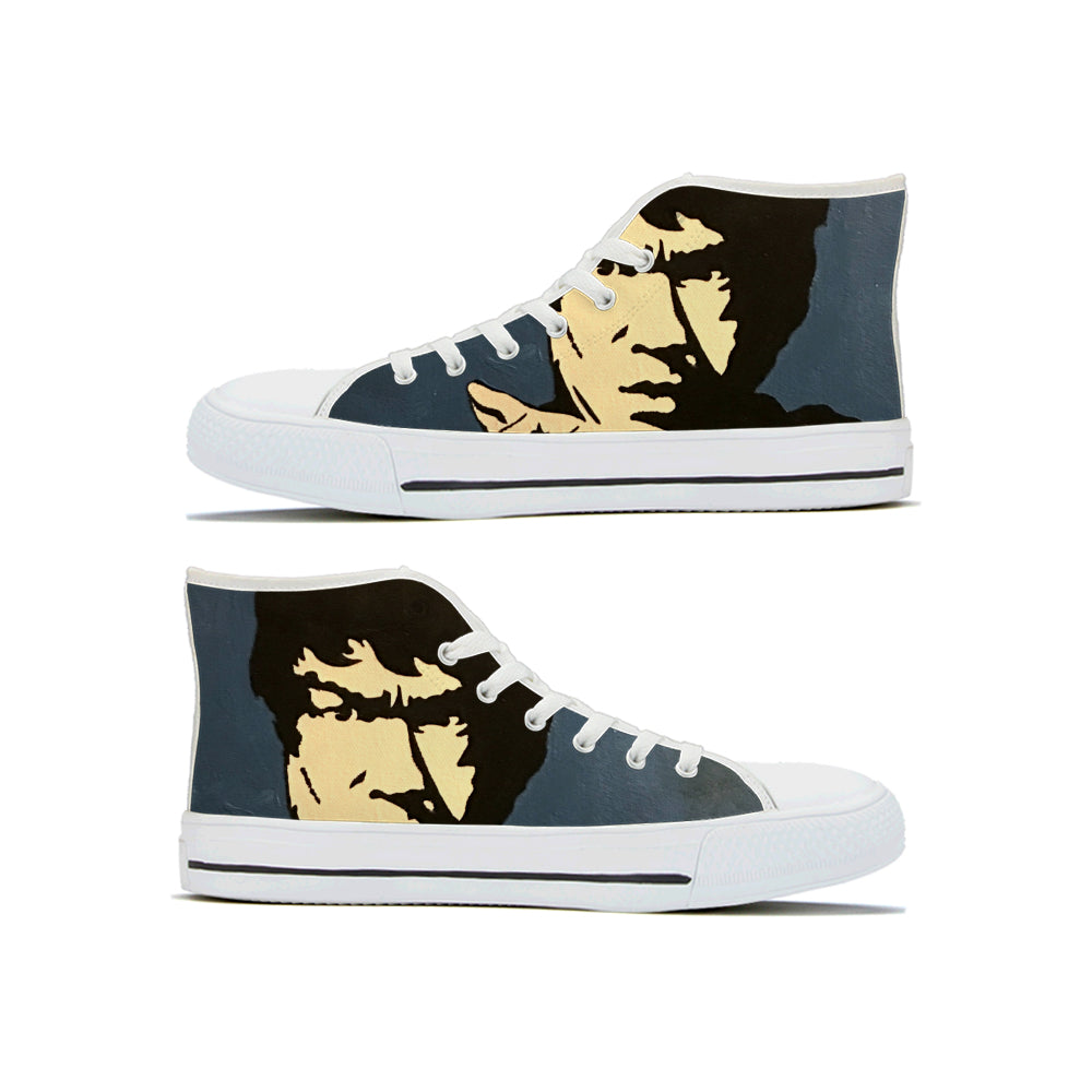 Kung Fu Lee High Top Shoes - Keyline Wear