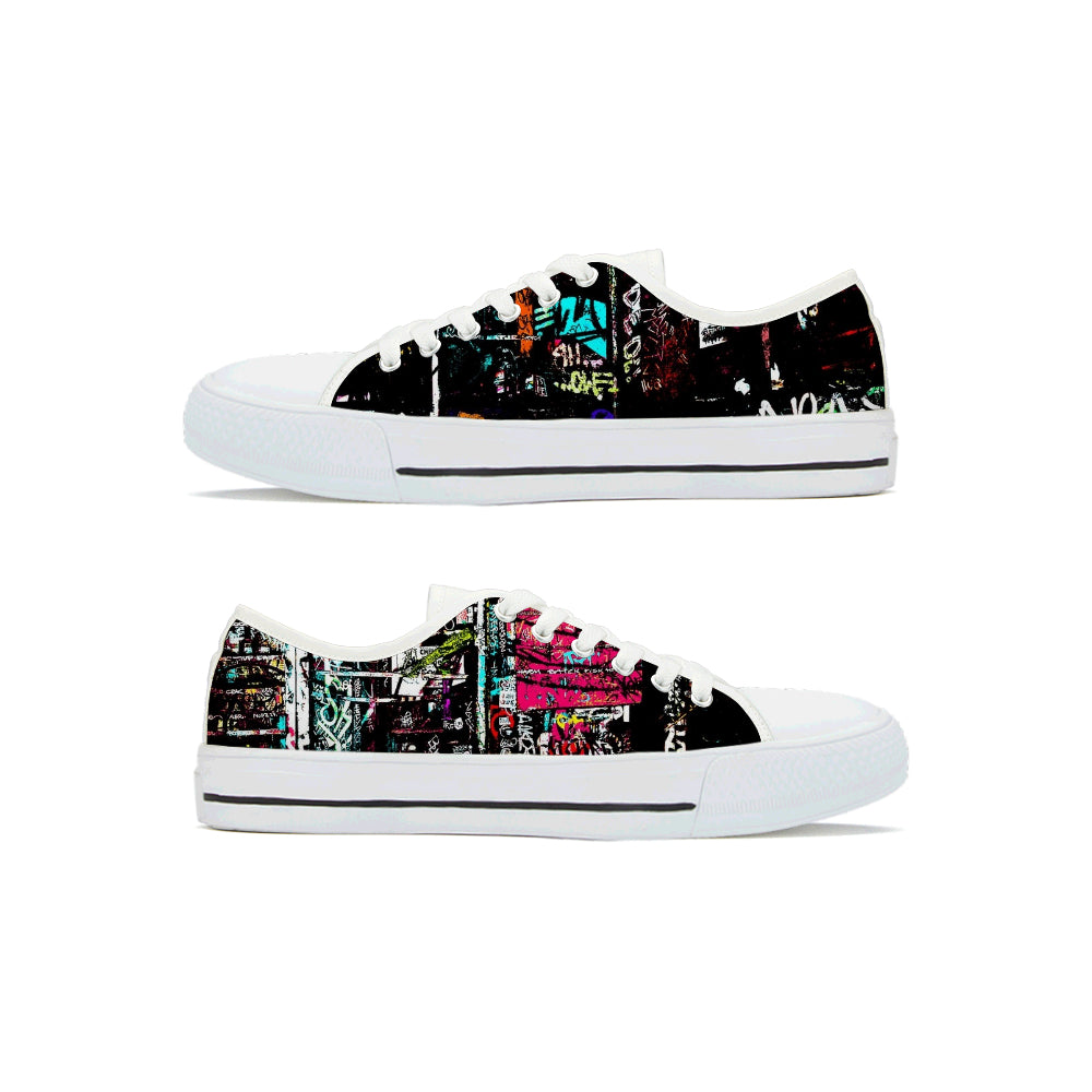 """Graffiti"" Low Top Shoes - Keyline Wear"