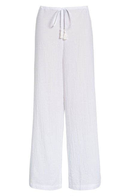 Tommy Bahama Women's Crinkle Cotton Pants Cover Up White