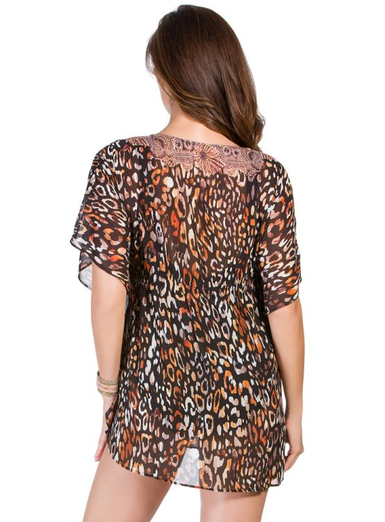 Miraclesuit Cat's Meow Caftan Cover Up