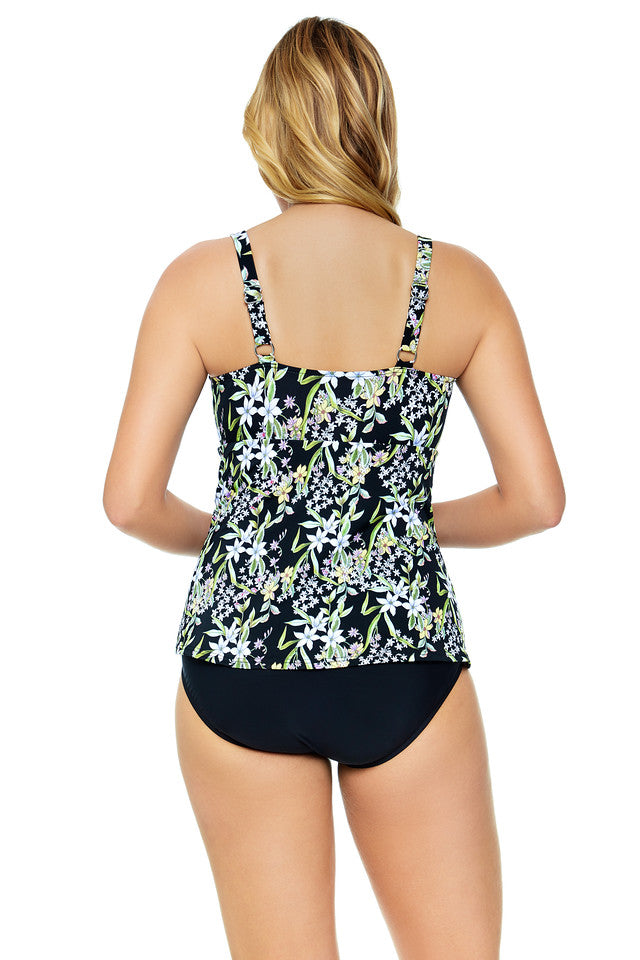 Penbrooke Plus Size Prairie Dance Triple Tier Fauxkini One Piece