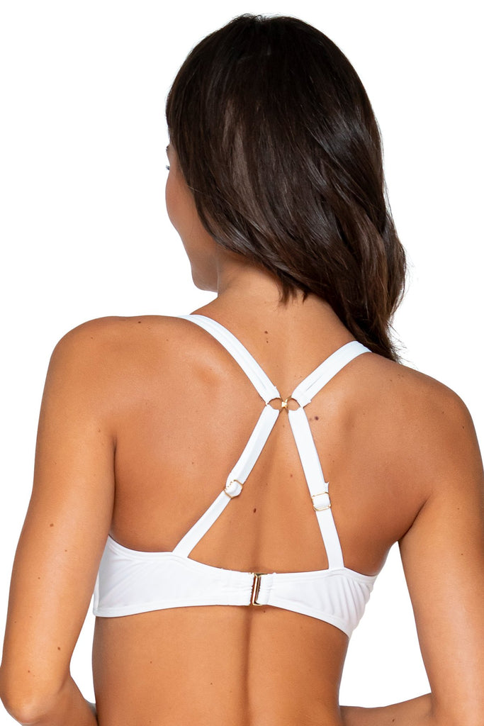 Sunsets White Taylor Bralette E, F, G, H Cup Sizes Bikini Top