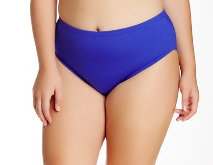 Becca ETC By Rebecca Virtue Solid Sapphire Full Swimsuit Bottom