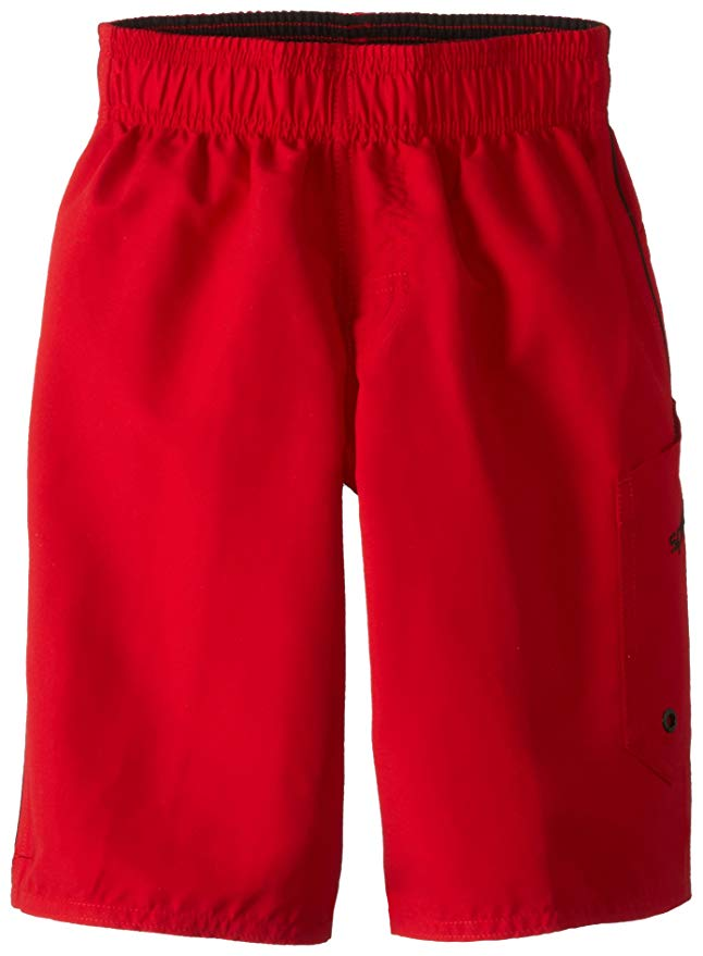 Speedo Boys' Marina Volley Board Shorts Atomic Red