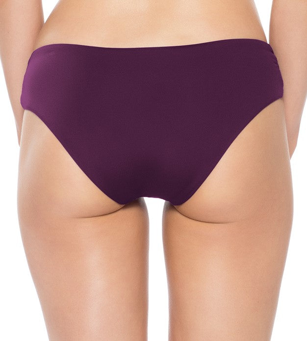 Becca By Rebecca Virtue Color Code Merlot Tab Side Hipster Keyhole Bikini Bottom
