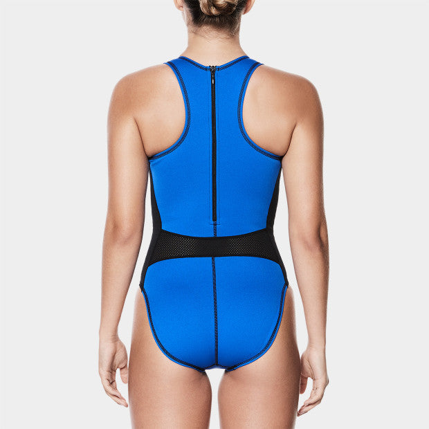 Nike Swim Girls' Water polo High Neck One Piece Game Royal