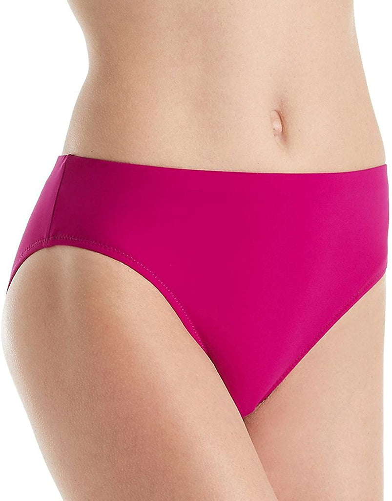 Profile By Gottex Tutti Frutti High Waist Bikini Bottom Cranberry