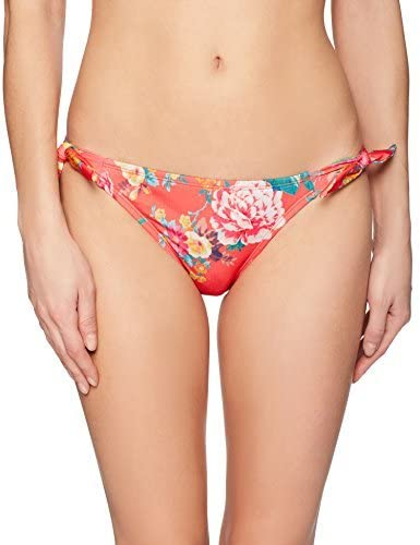 Hobie Women's Petal Pusher Tie Side Hot Coral Bikini Bottom