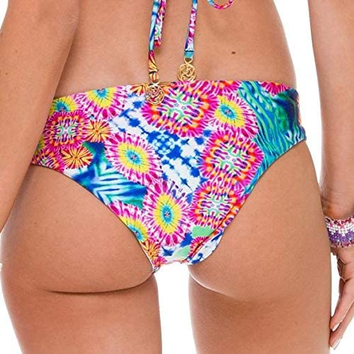 Luli Fama Miami Beautiful Mess Reversible Stitched Bikini Bottom