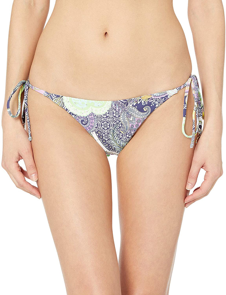 Luli Fama Miami Navy Blue Dynasty Brazilian Bikini Bottom