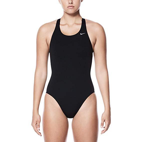 Nike Swim Women's Poly Core Solid Fast Back Tank One Piece