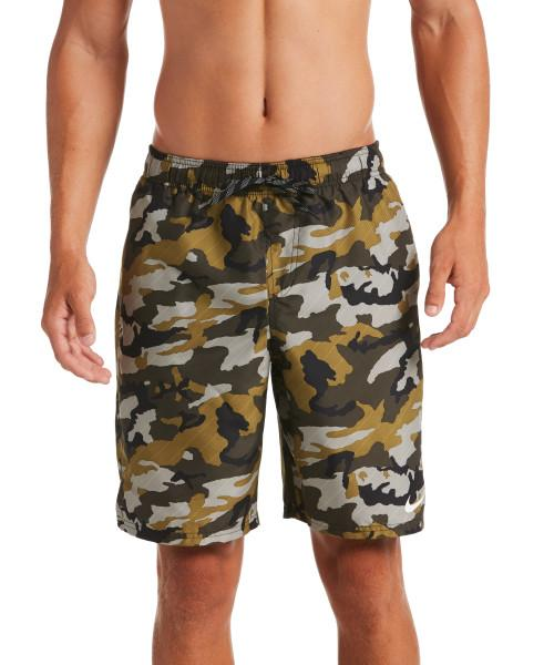 Nike Swim Men's 9-inch Volley Board Shorts Medium Olive