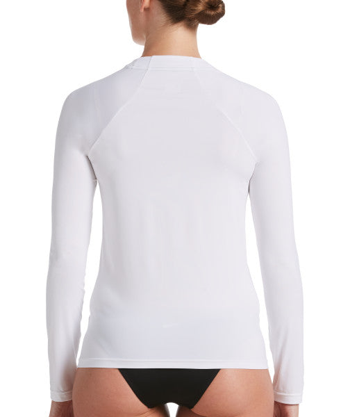 Nike Swim Women's Essential Long Sleeve Hydro Rash Guard White