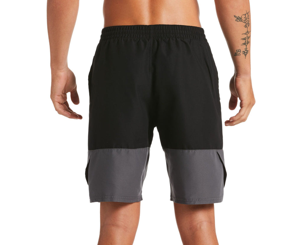 Nike Swim Men's Split Breaker Volley Swim Trunk Black