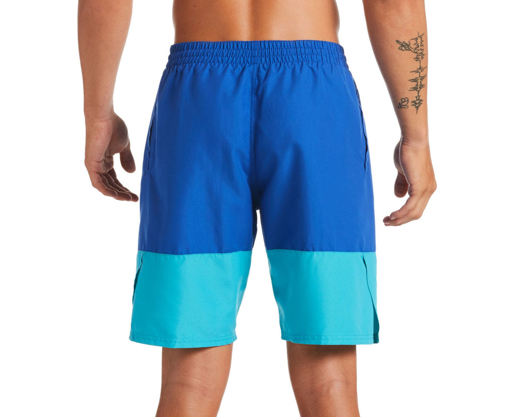 Nike Swim Men's Plus Size Split Breaker Volley Swim Trunk Game Royal