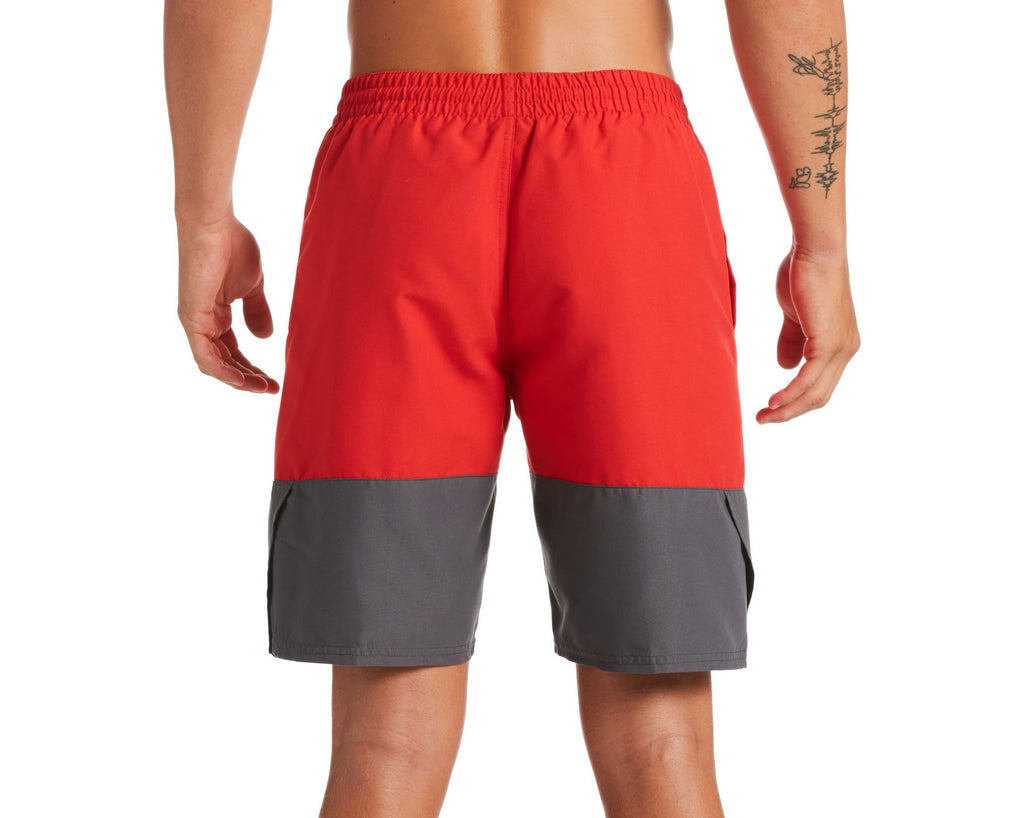 Nike Swim Men's Split Breaker Volley Swim Trunk University Red