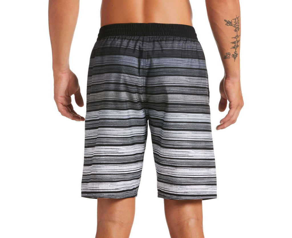 Nike Swim Men's 6:1 Stripe Breaker Volley Swim Trunk Black