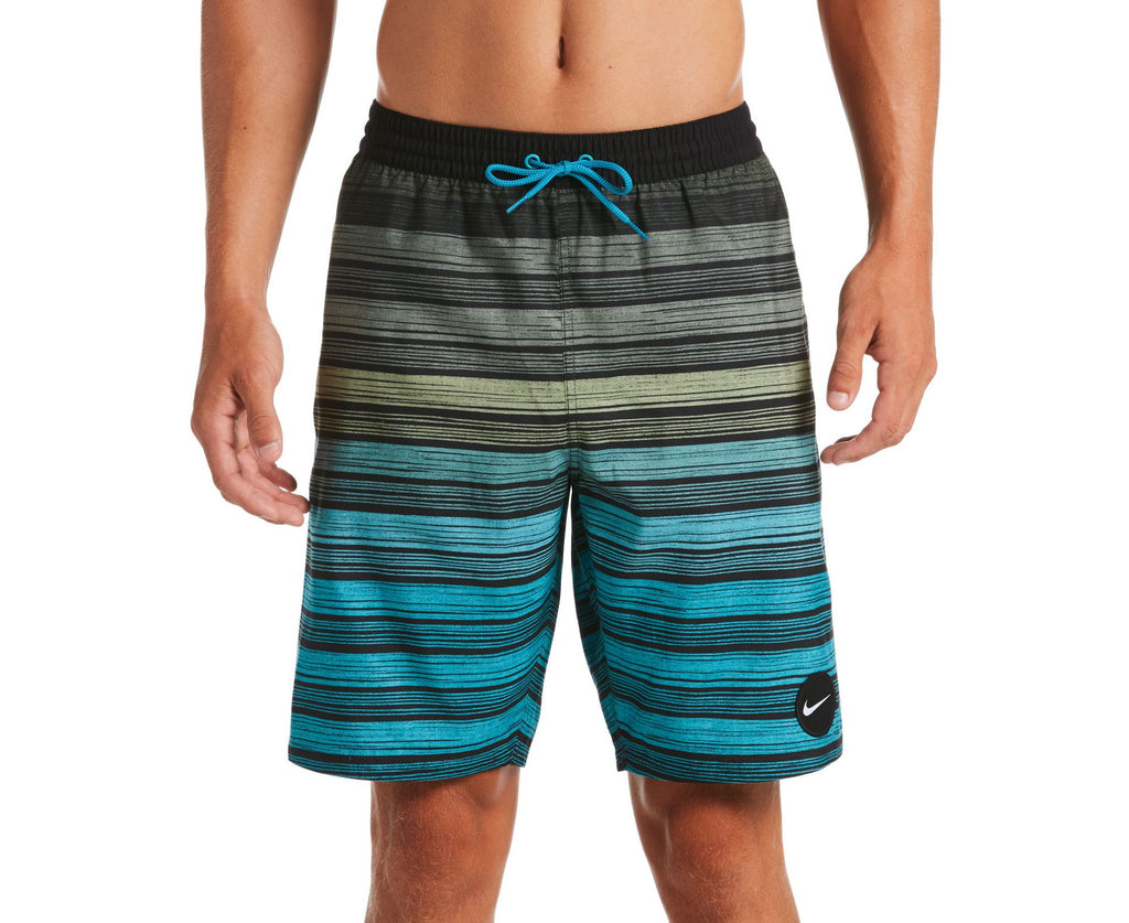 Nike Swim Men's 6:1 Stripe Breaker Volley Swim Trunk Galactic Jade