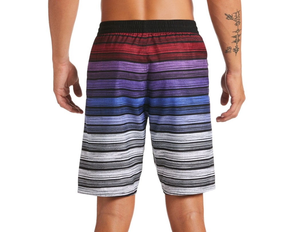 Nike Swim Men's 6:1 Stripe Breaker Volley Swim Trunk Noble Red