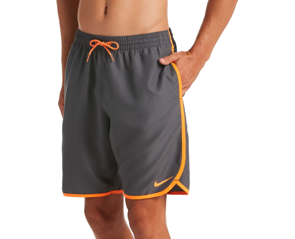 "Nike Swim Men's Diverge 9"" Volley Short Swim Trunk Total Orange"