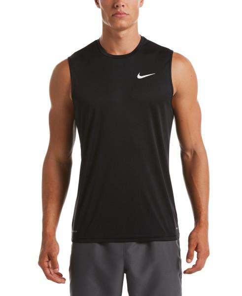 Nike Swim Men's Essential Sleeveless Hydroguard Rash Guard Black