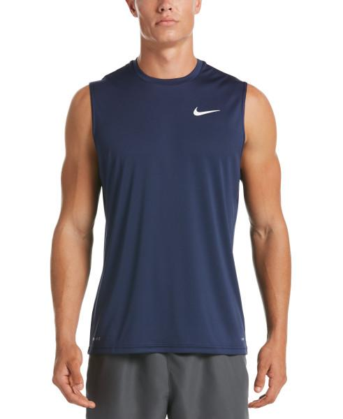 Nike Swim Men's Essential Sleeveless Hydroguard Rash Guard Midnight Navy