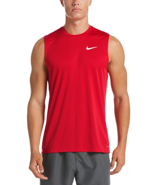 Nike Swim Men's Essential Sleeveless Hydroguard Rash Guard University Red